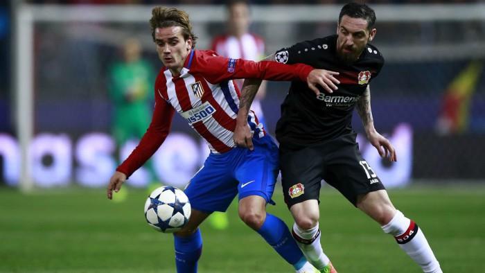El Atlético de Madrid eliminó al Bayer Leverkusen