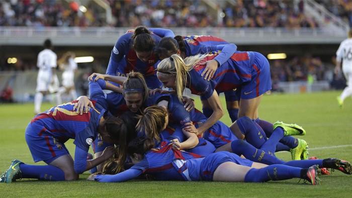 Las jugadoras del Barça hacen historia