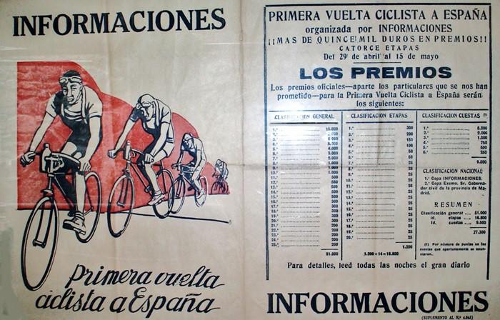 Tal día como hoy… Arranca la primera edición de la Vuelta Ciclista a España