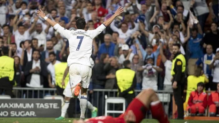 Cristiano Ronaldo hizo un hattrick para eliminar al Bayern
