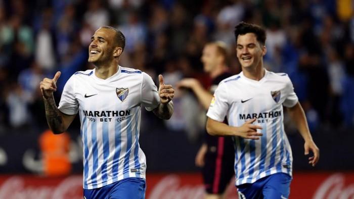 El Málaga ganó al Barcelona en la Jornada 31