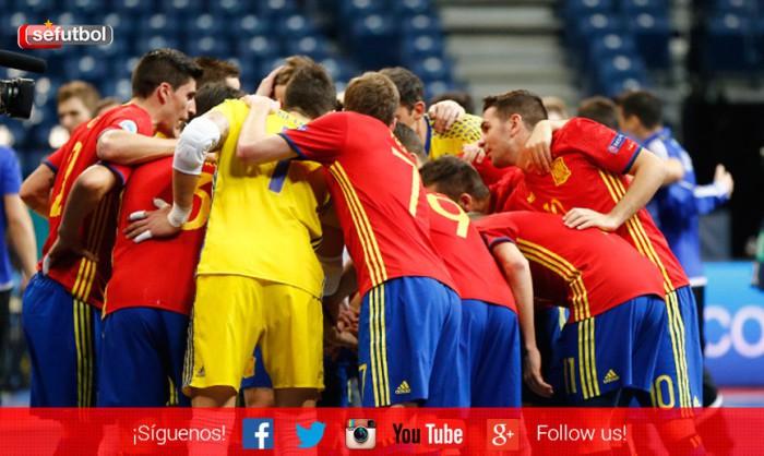 Clasificación Europeo de Fútbol Sala Eslovenia 2018, Moldavia 7-0 España