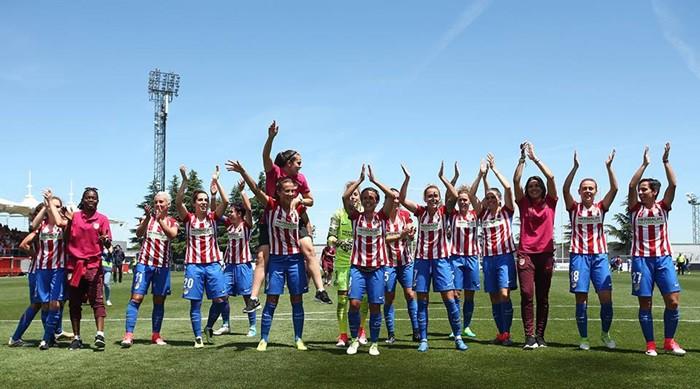 El Atlético celebra el título de la Liga Iberdrola