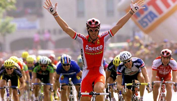 Cipollini es el hombre con más victorias de etapa en el Giro