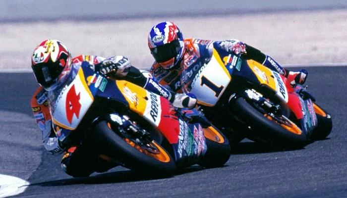 Crivillé y Doohan en el GP de España en Jerez