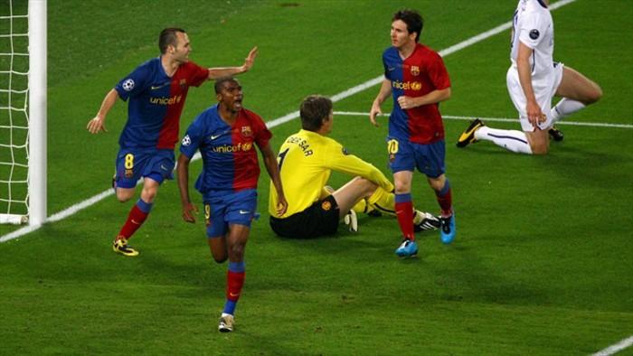 Eto'o marcó el primer gol en la final de 2009