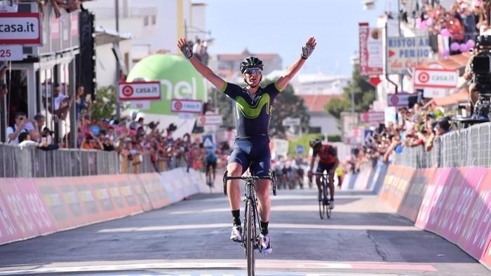 Gorka Izagirre consiguió la primera victoria española en el Giro de Italia 2017