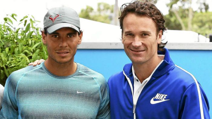 Moya y Rafa Nadal