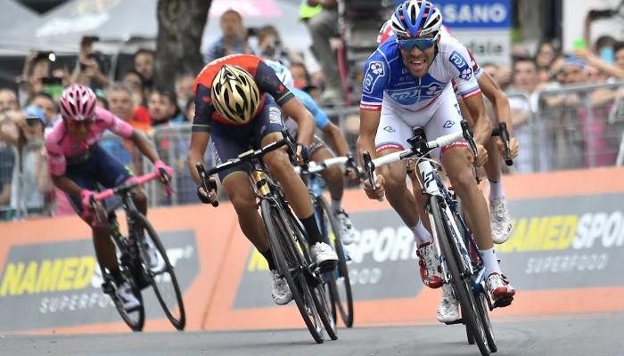 Pinot ganó una etapa y aspira al liderato del Giro de Italia 2017
