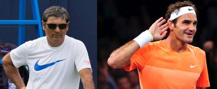 Toni Nadal y Federer