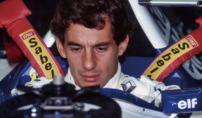 Ayrton Senna en el circuito de Imola