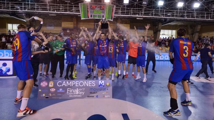 Barcelona Lassa ha ganado por cuarto año seguido la Copa del Rey de balonmano