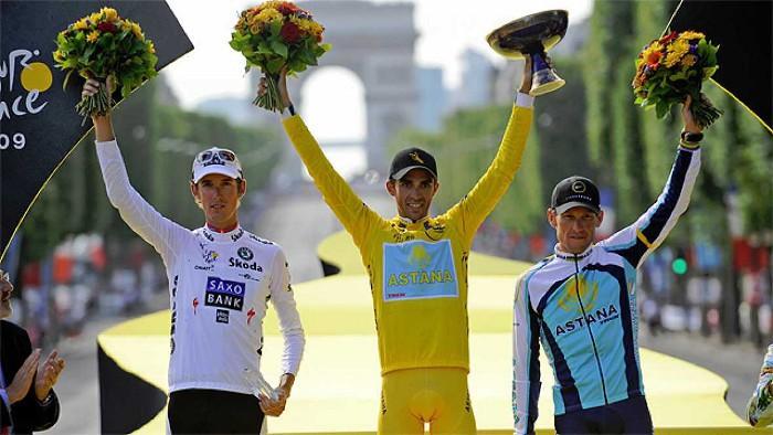 Contador, en 2009, es el último español en ganar el Tour