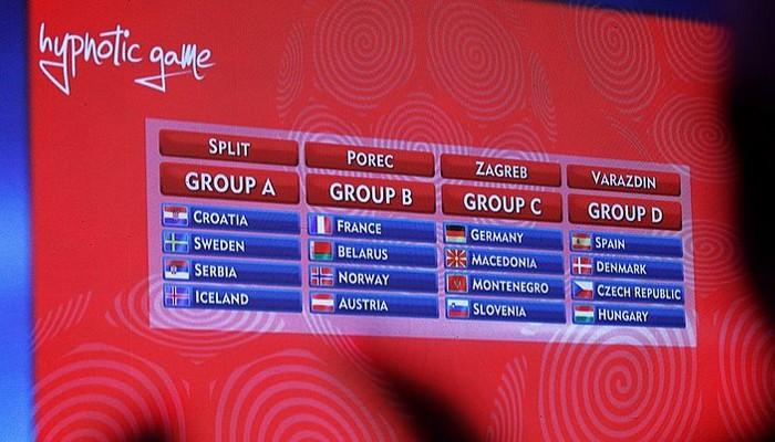 Sorteo de la fase de grupos del Europeo de balonmano de 2018