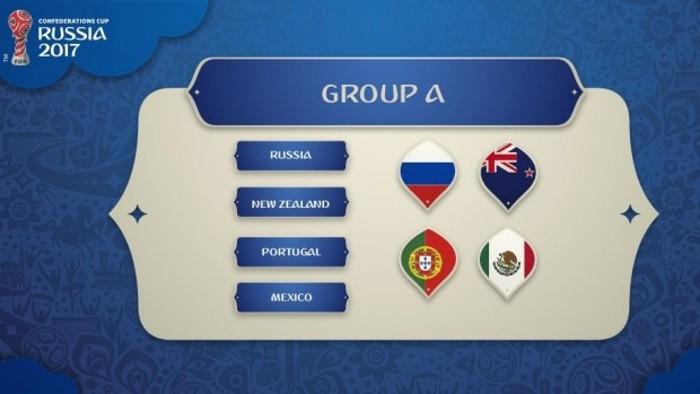 Rusia, Portugal, Nueva Zelanda y México en el Grupo A de la Confederaciones 2017