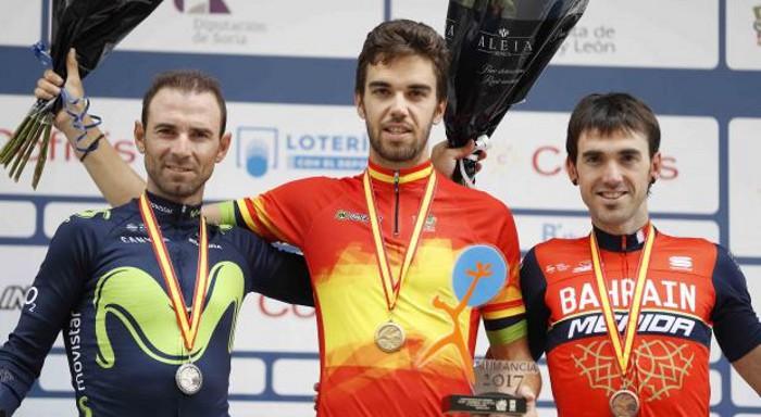 Jesús Herrada ganó los nacionales de ciclismo de 2017