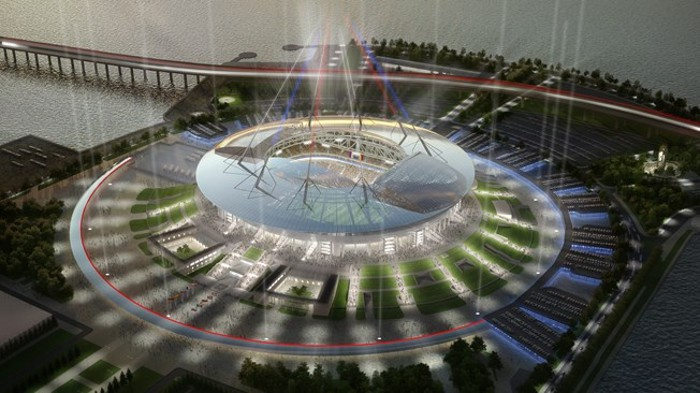 El estadio del Zenit será sede de la Copa Confederaciones 2017