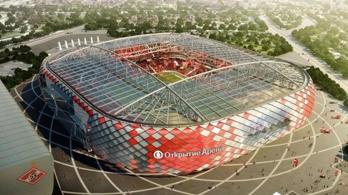 El Otkrytie Arena es el estadio de Moscú para la Confe Cup