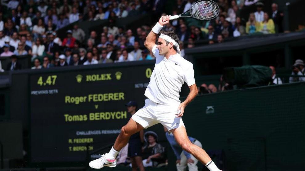 Federer buscará ante Cilic el Grand Slam 19 en Wimbledon