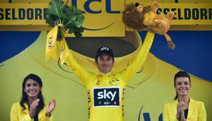 Geraint Thomas fue el primer líder del Tour de Francia 2017