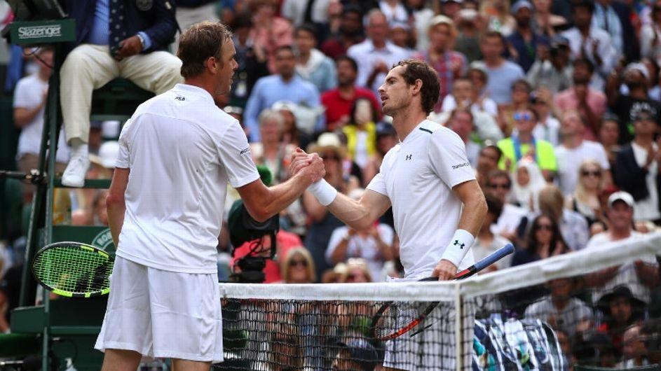 Querrey elimina a Murray, campeón defensor de Wimbledon