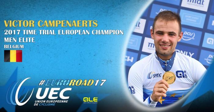 Campenaerts es el nuevo campeón de Europa contrarreloj