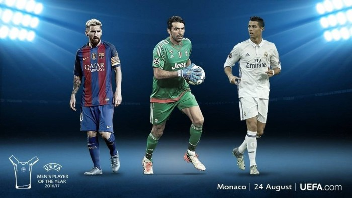 Messi, Buffon y Cristiano, nominados al Mejor Jugador de la UEFA