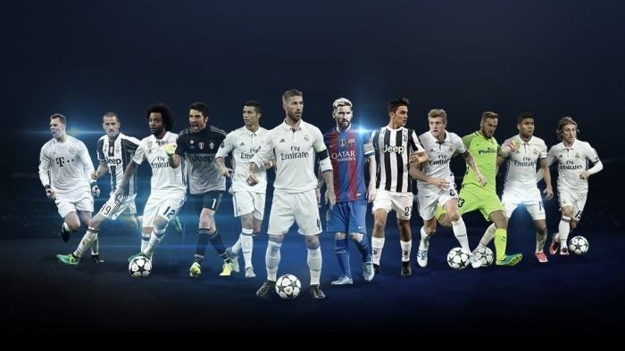 Los nominados a los premios de la Champions League 2016-2017
