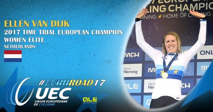 La holandesa Van Dijk ganó el Europeo de crono 2017