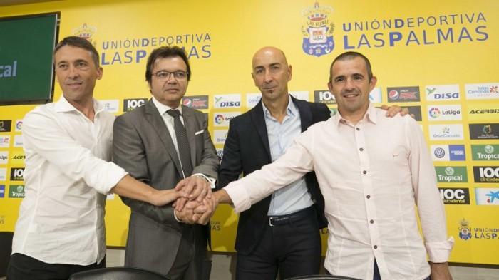 Pako Ayestarán fue presentado como nuevo entrenador de Las Palmas