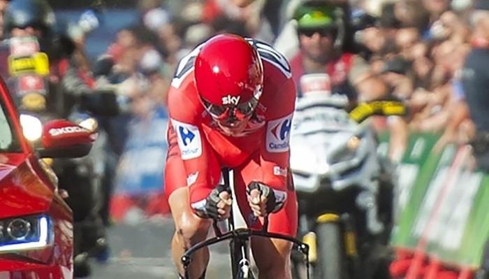Froome ganó la etapa crono de la Vuelta a España 2017