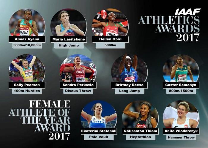 Estas son las Nominadas a mejor atleta del año en Mujeres