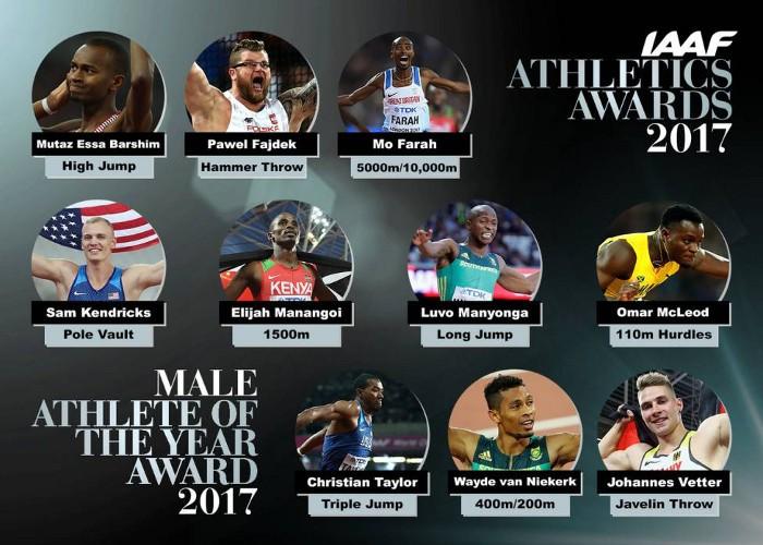 Estos son los Nominados a mejor atleta del año en Hombres