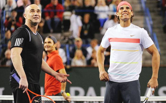 Agassi habla sobre Federer y Nadal en Londres