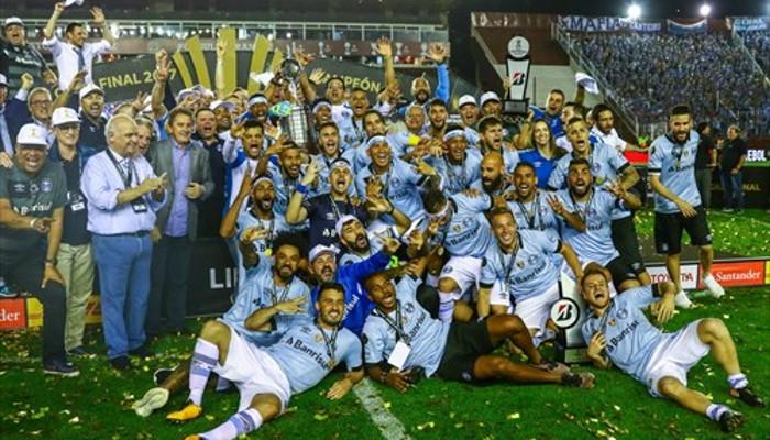 Gremio celebra la conquista de la Libertadores 2017