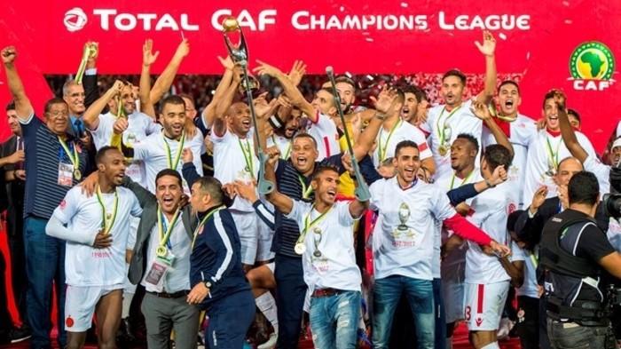 Wydad Casablanca celebra su victoria en la Champions League de África