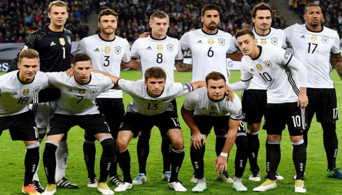 La lista de convocados de Alemania para la Copa Confederaciones 2017