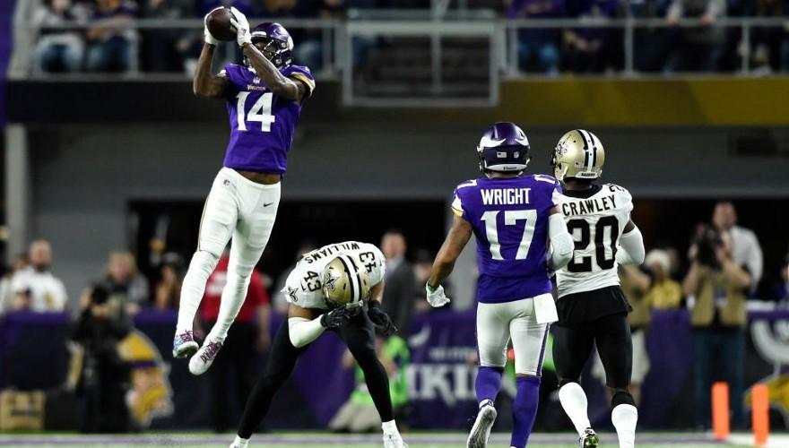 Los Vikings ganaron a los Saints en el último segundo
