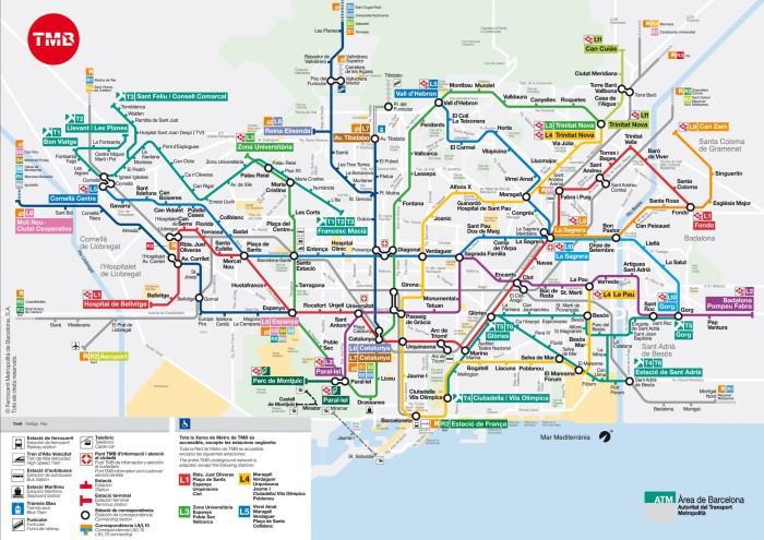 Plano Metro Barcelona