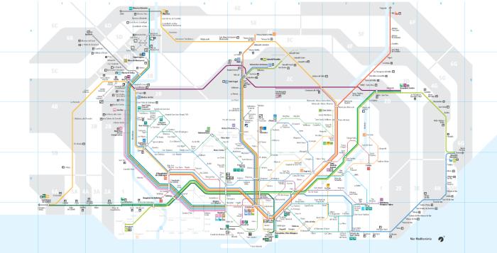 Plano Ferrocarriles Barcelona
