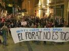Manifestación no autorizada en Barcelona causa destrozos
