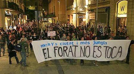 Manifestacion Barcelona Forat
