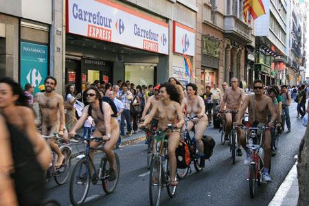 Nudismo en Ramblas