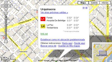 Los horarios del Metro en Google Maps