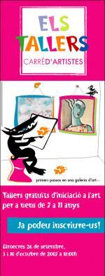 Talleres gratuitos de iniciación al arte en Carré d'Artistes