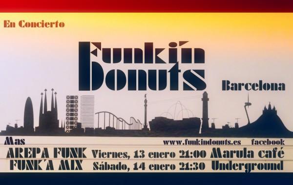 Conciertos de Funkin´Donuts en Barcelona