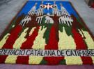 Las alfombras florales engalanan Barcelona para La Mercè