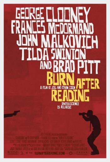 Póster de 'Burn After Reading'