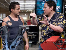 Jon Favreau y Robet Downey Jr.