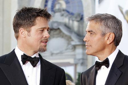 Pitt y Clooney protagonistas de la jornada en Venecia